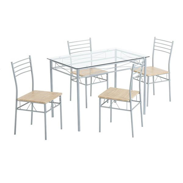 Glass Dining Table and Chairs  1