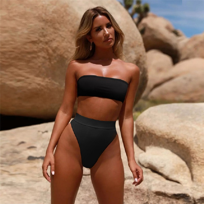 Bikini Set Swimwear 2 Piece Swimsuit High Waist Bikini Women Bathing Suit Sexy Triangle Bathing Suit Women High Waist Swimwear
