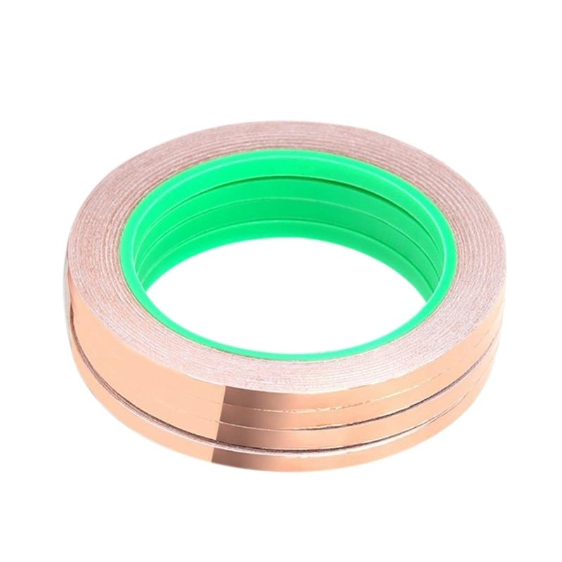 5x Copper Foil Tape Paper w// Conductive Adhesive for Guitar /& EMI Shielding
