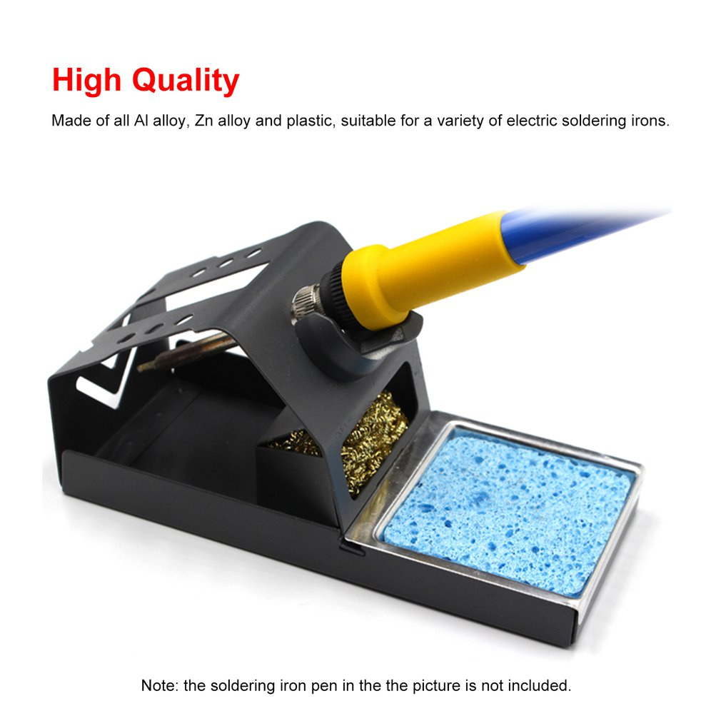 Soldering Iron Stand Holder Welding Tool Handle Metal Support Station Frame Bracket Base With Solder Sponge High Temperature
