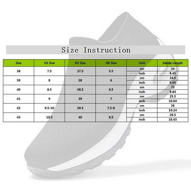 Women Men Walking Shoes Running Mesh Shoes Fashion Platform Slip-On Sneaker Air Cushion Gym Sport Shoes Soft