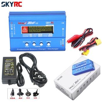 SKYRC IMAX B6 V2 Digital RC Lipo NiMh Battery Balance Charger With 12v 5A AC POWER Adapter(EU/US/UK/AU Plug) For 2S 3S 4S 5S 6S liitokala 3s 12 6v 5a charger power supply adapter 12v lithium battery pack li ion batterites eu us au uk ac dc plug converter