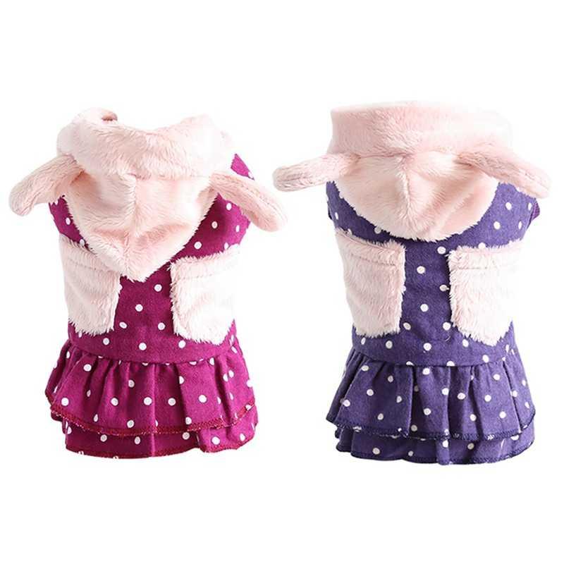 Cappotti invernali Giubbotti Dot Felpe Cappotto per le Piccole Cani di Taglia Grande Gatti, Abbigliamento Caldo del Modello di Puntino del Vestito di Inverno Costume