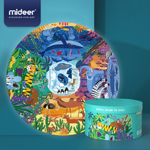 Mideer Early Childhood Education 150p World Animal Puzzle Baby Toddler Paper Toy Jigsaw Puzzle 3-6Y