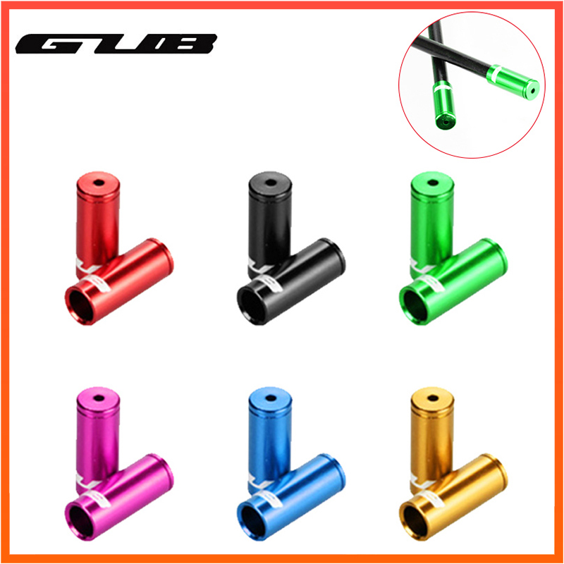GUB 10pcs Aluminium Bicycle Shift Brake Cable Cap Brake Shift Wire Tube Cable Protector End Tip Cap MTB Road Bike Accessories