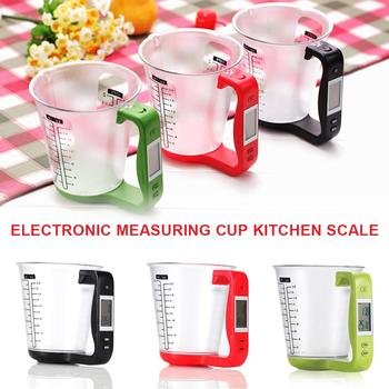 Measuring Cup Kitchen Scales Digital Beaker Libra Electronic Tool Scale With LCD Display Temperature Large Capacity Measue Cup image