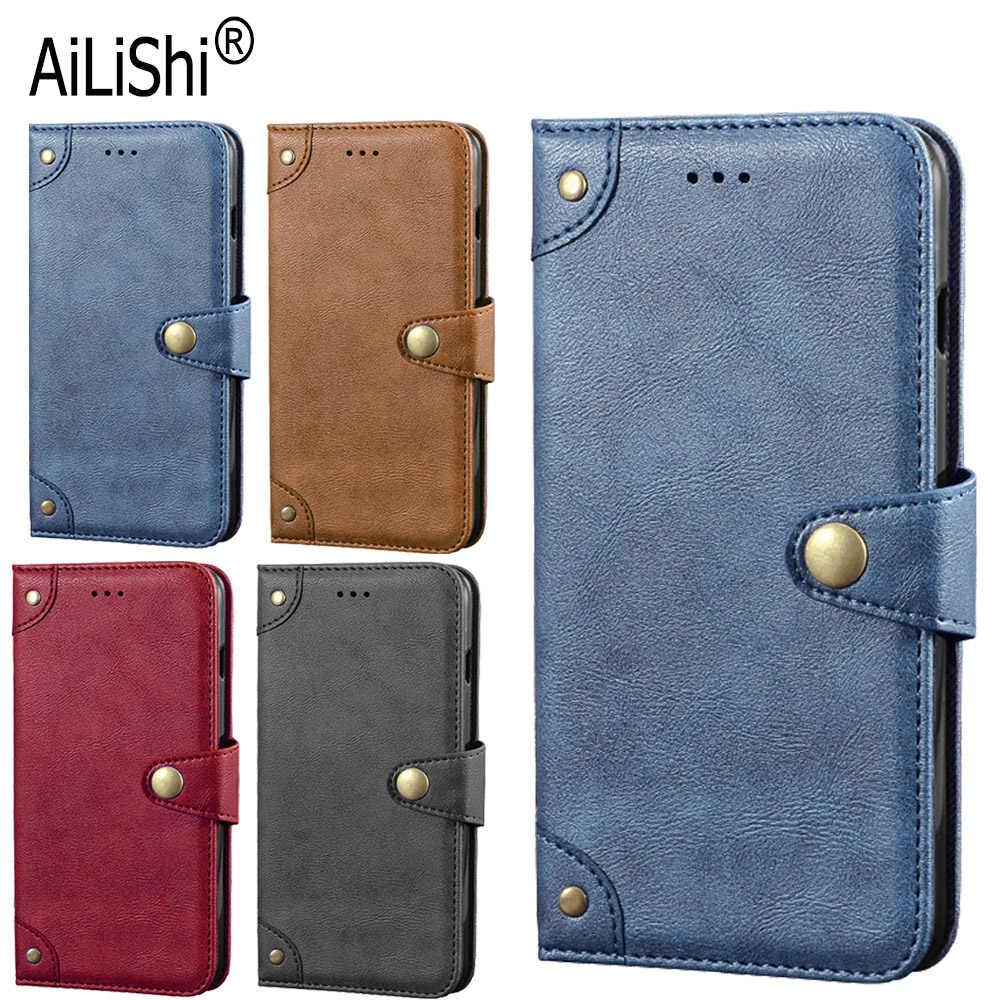 AiLiShi حقيقية الجلود الحال بالنسبة لينوفو تاب V7 Z6 لايت K3 K30 K5 برو S5 برو حافظة قلابة غطاء الهاتف حقيبة محفظة حامل الأعمال