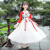H2516 Girls Chinese Hanfu Clothing Antique Summer Fairy Child Clothes Children's Tang Dress Baby Traditional Princess Costumes