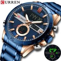 CURREN Mann Uhr Luxus Marke Casual Sport Armbanduhren Männliche Digital Design Leucht Uhr mit Chronograph