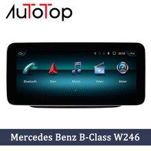 Autotop android 9 carro rádio gps unidade de cabeça para mercedes benz b-classe w246 b180 b200 b220 b250 b260 w245 2011-2018 multimídia automóvel
