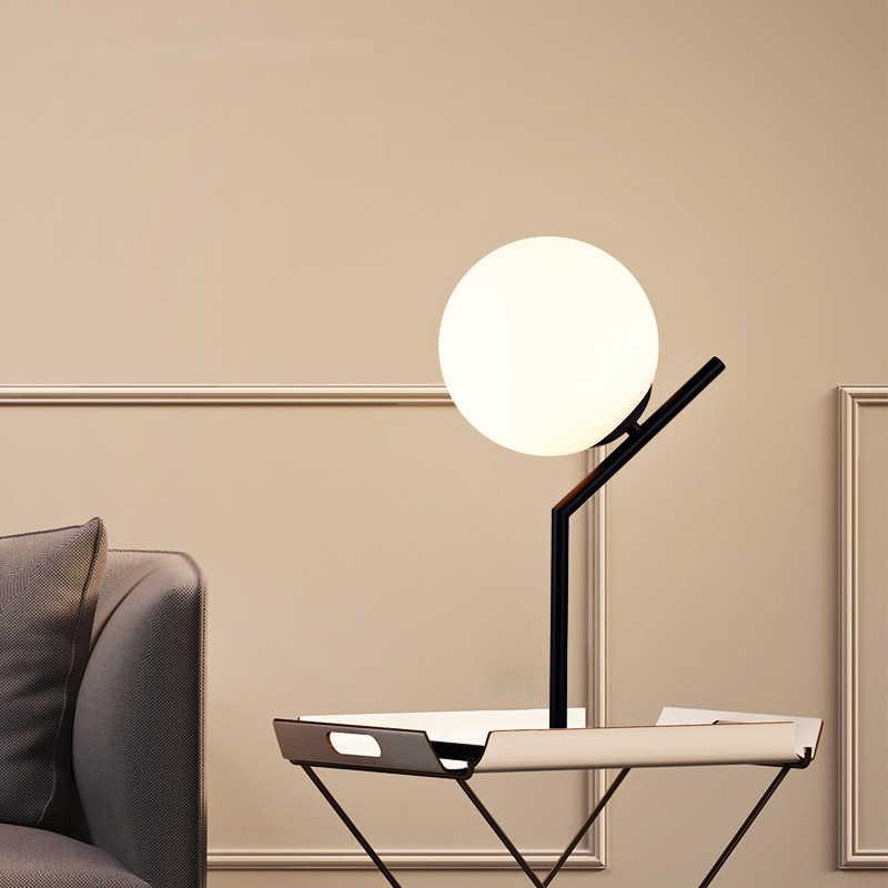 Lampes de table à billes en verre créatives simples pour chambre