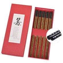5 пар японских креативных деревянных палочек ручной работы палочки