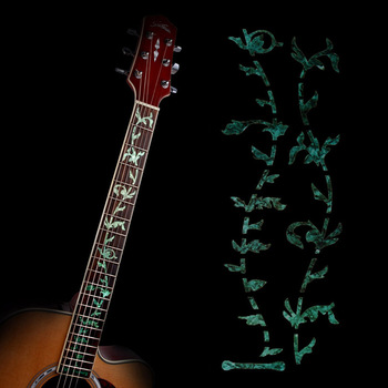 Guitar Inlay Decals Sticker Fretboard Markers Tree Of Life Green Ultra Thin Sticker for Electric Acoustic Classical Guitar Bass high quality guitar fretboard markers inlay sticker decals star shape for electric acoustic classical guitar bass ukulele