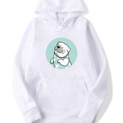 Lange Mouwen Casual Fleece Sweatshirts 2019 Hond Gedrukt Vrouwelijke Harajuku Hooded Truien Herfst Vrouwen Streetwear Leuke Truien