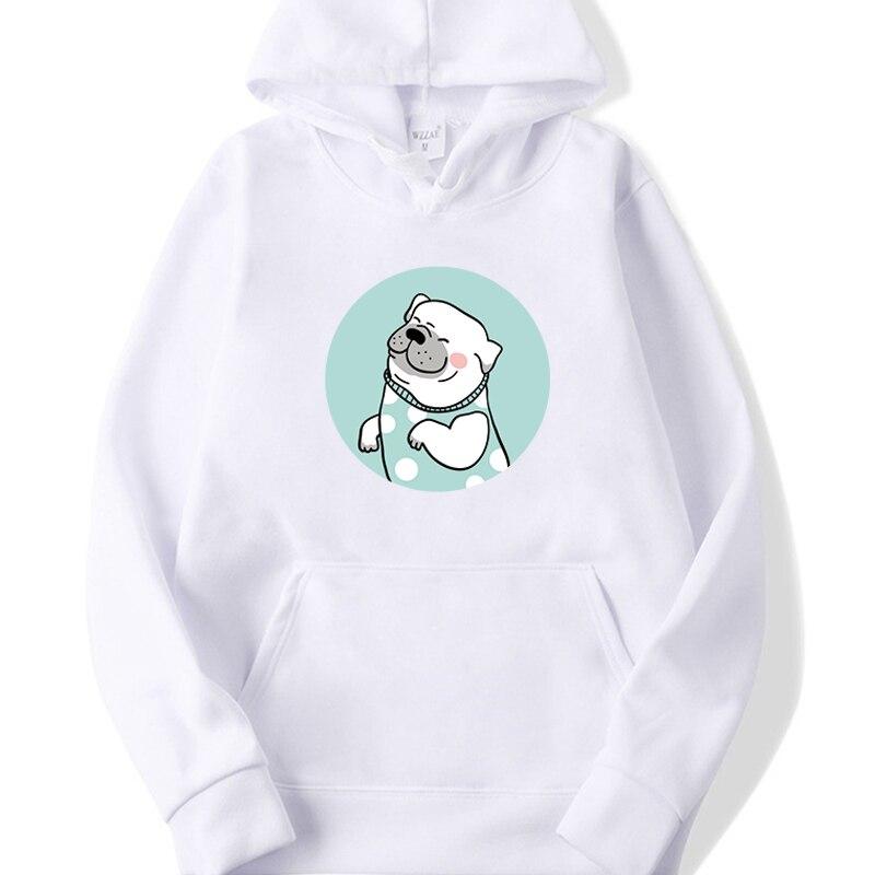 Long Sleeve Casual Fleece Sweatshirts 2019 Dog Printed Female Harajuku Hooded Hoodies Autumn Women Streetwear Cute Pullovers
