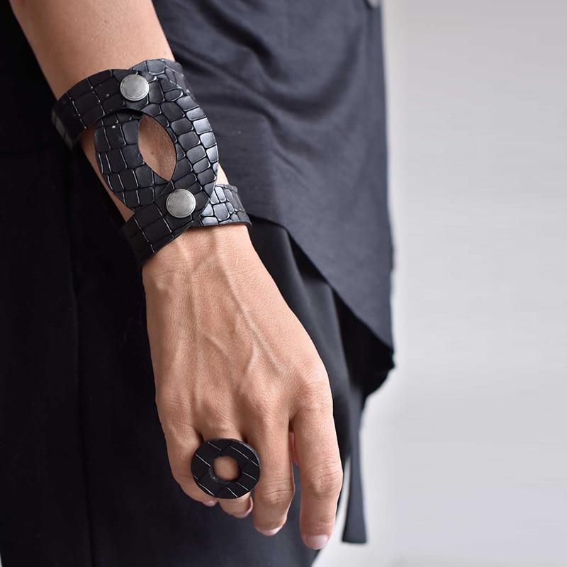 Leather bracelet Women Punk Style