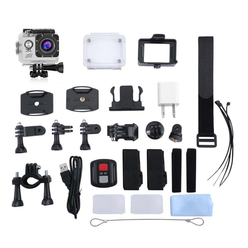 4K Wifi Camera 170 Degree Wide Angle Sports DV Camera Waterproof Outdoor Diving Riding Photo Shooting Video Recording image