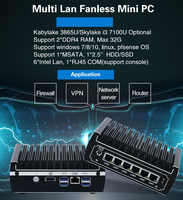 Mini Pfsense pc 6*Intel 1000M LAN Core i3 7100U I5 7200U Celeron 3855U AES-NI Firewall WIFI ROUTER MINI computer DDR4 ram