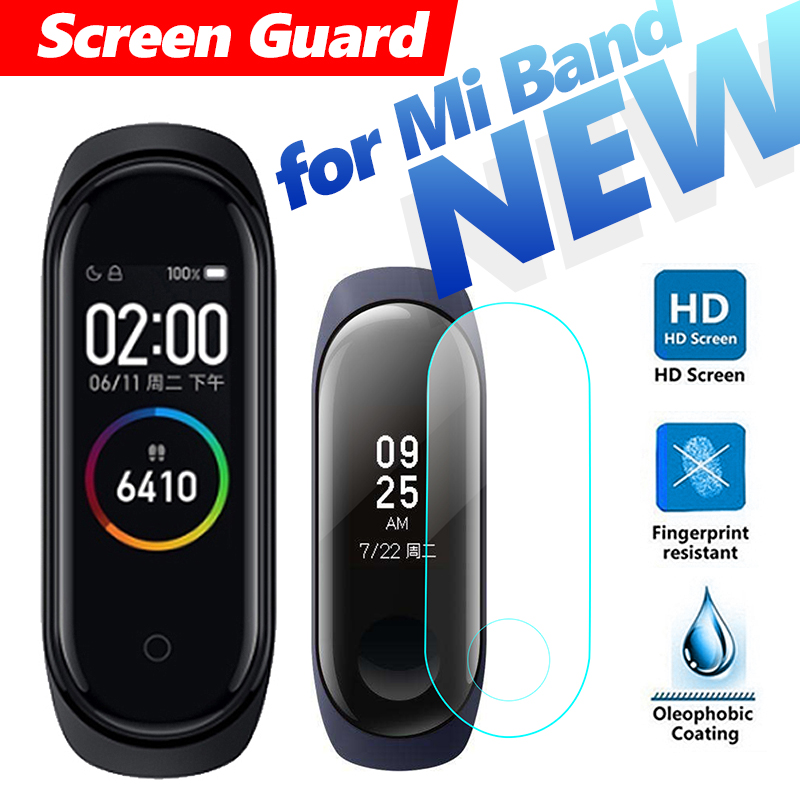 HD Protective Film For Xiaomi Mi Band 1 2 3 4 NFC Smart Wristband Mi Band4 Bracelet Not Tempered Glass Hydrogel Film