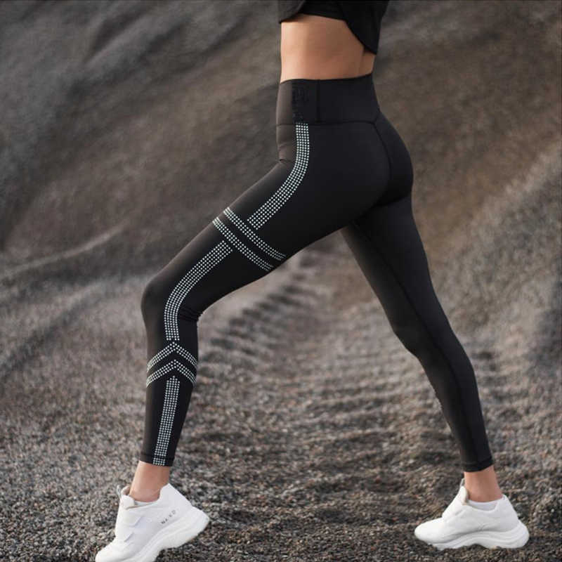 HIFOLK Hoge Taille Vrouwen Workout Leggings Push Up Hip Sexy Leggings Ademend Absorberen Zweet Fitness Broek voor Sport Gym Black