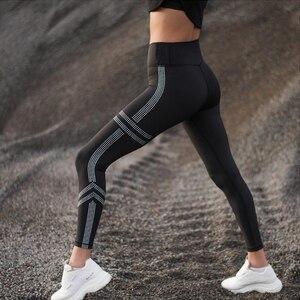 Image 1 - Hifolk cintura alta mulheres workout leggings push up hip sexy leggings respirável absorver suor calças de fitness para esportes ginásio preto