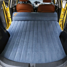 Car inflatable bed flocking fabric car inflatable mattress car SUV bed car supplies free shipping