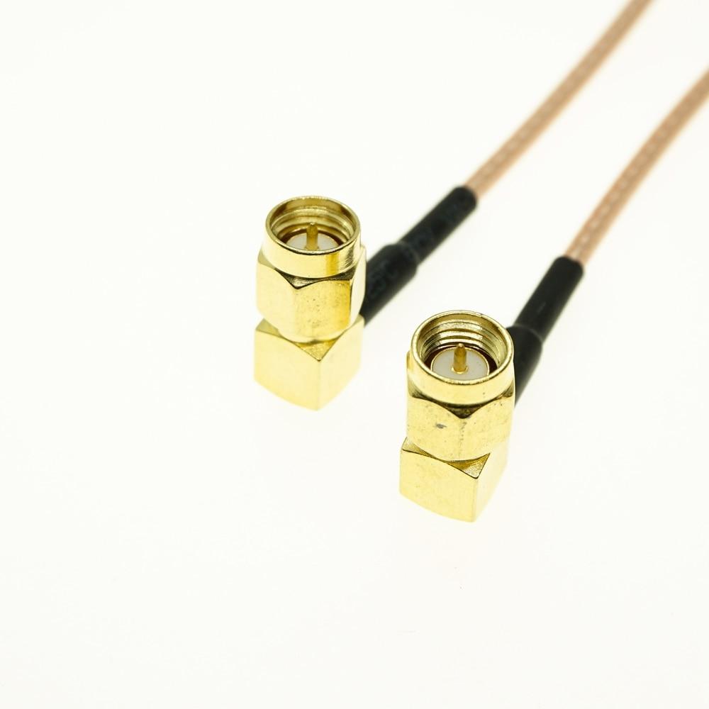 SMA Male Right Angle To SMA Male Right Angle RF Pigtail Cable 6inch RG316 Jumper 10cm 15cm 50cm