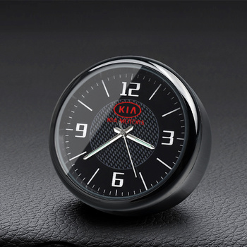 New Car Clock Ornaments Air Vents Outlet Clip sticker Logo For Kia Rio K2 K3 K5 K9 ceed Sorento Sportage car styling Accessories car clock ornaments auto watch air vents outlet clip mini decoration automotive dashboard time display clock in car accessories