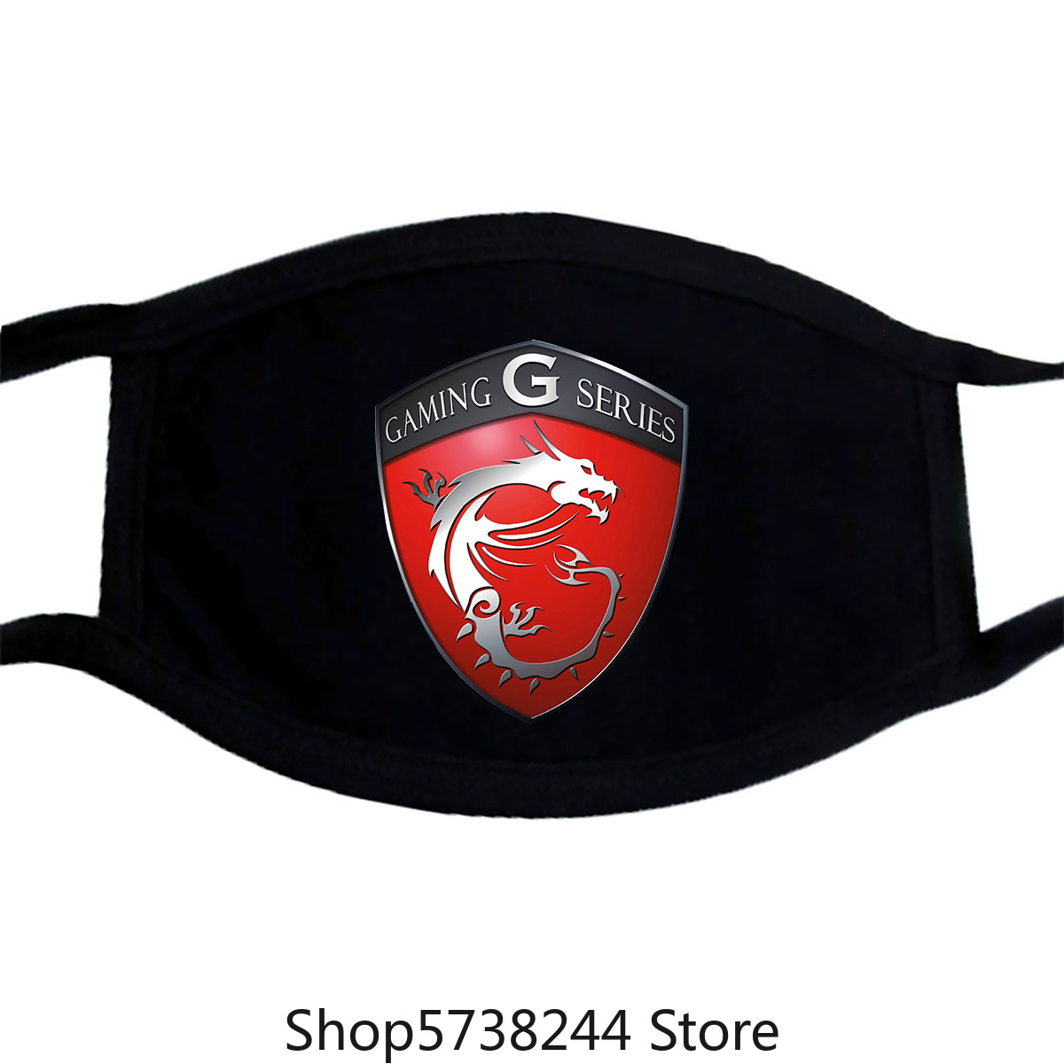 New Gaming Series Msi Shield Logo Men'S Black Mask Size Xs To 3Xl Washable Reusable Mask With