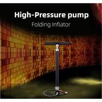 Bomba de ar manual de refrigeração a óleo 4 fase com segregador inflator tipo de compressão de quatro estágios de dobramento da bomba de alta pressão do impulsionador