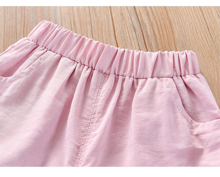 Hdbd5daac558a4879bcde44e0a3a1909dj Humor Bear Girls Clothing Set 2020 Korean Summer New Ice Cream Bow T-shirt+Pants Kids Suit Toddler Baby Children's Clothes