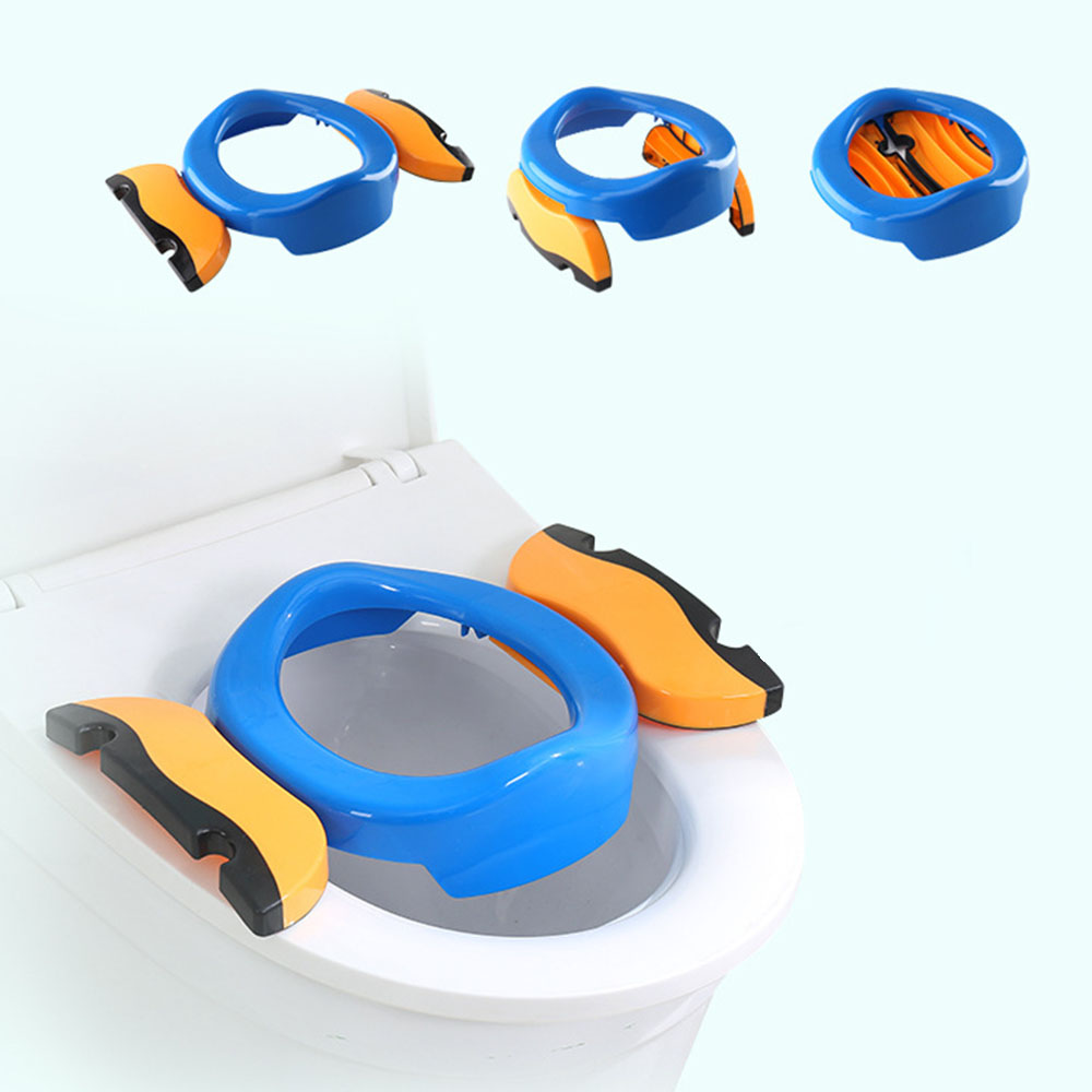 2 In 1 Portable Baby Outdoor Travel Pots Boy Girl Foldaway Toilet Basin Potty Travel Baby Folding Potty Kids Training Toilet Sea