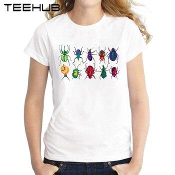 Gibi sevimli bir demet Böcek Kadın T-Shirt 2018 Yaz Kısa Kollu kadın bluzları Komik Baskılı T Gömlek Casual Tee Gömlek