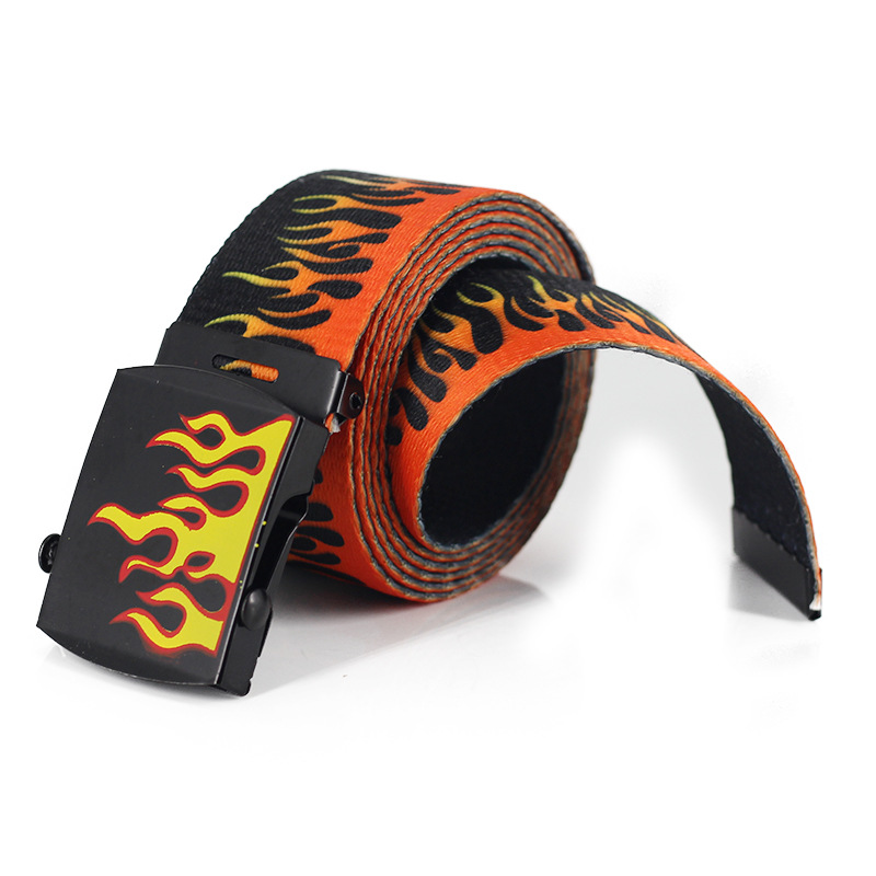 American Popular Casual Punk Flame Fire Belt Unisex Lover Belts FB35