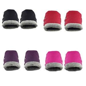Image 2 - Guantes de invierno para cochecito de bebé, manoplas cálidas, asa de cubierta para cochecito, manoplas calentadoras de mano para silla de paseo, accesorios para Yoyo Yoya