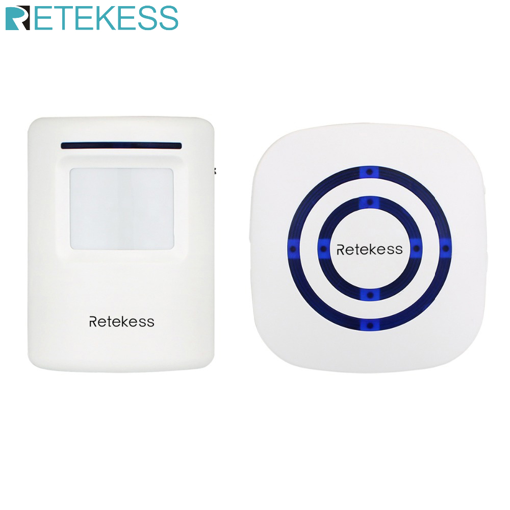 RETEKESS T801 Wireless Chime Alarm Alert Doorbell With PIR Motion Sensor Infrared Detector Induction Gate Entry Door Bell Home