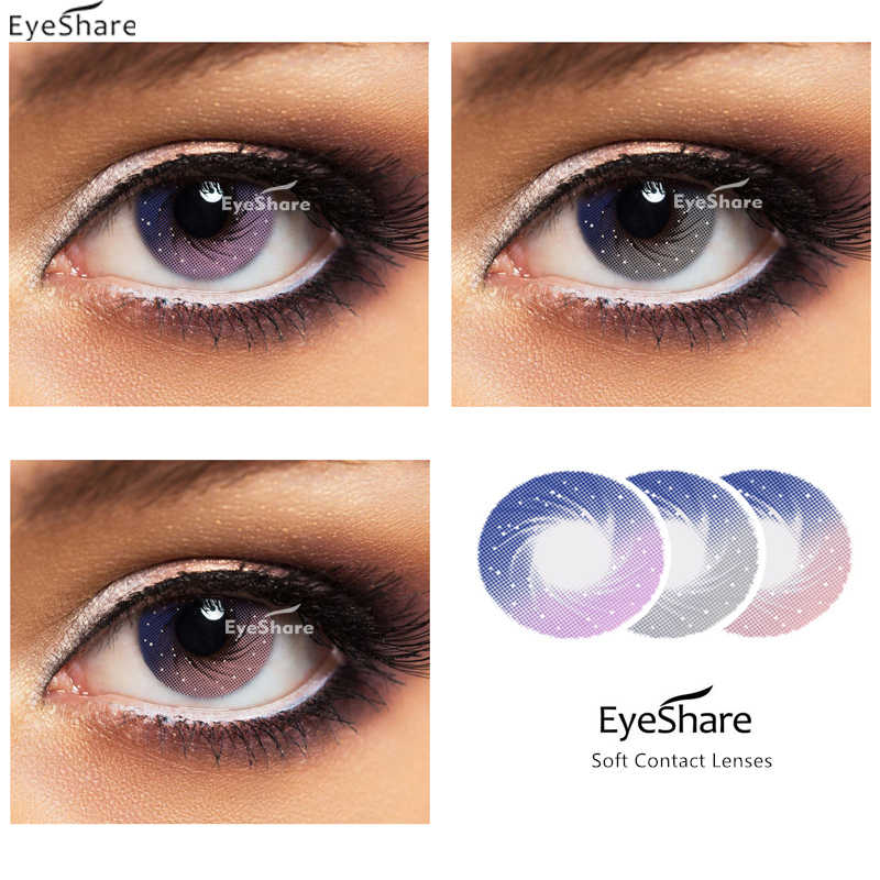Eyeshare 2pcs Pair 2020 New Galaxy Series Contact Lenses For Eyes Cosplay Colored Contact Lens Color Eye Lenses Aliexpress