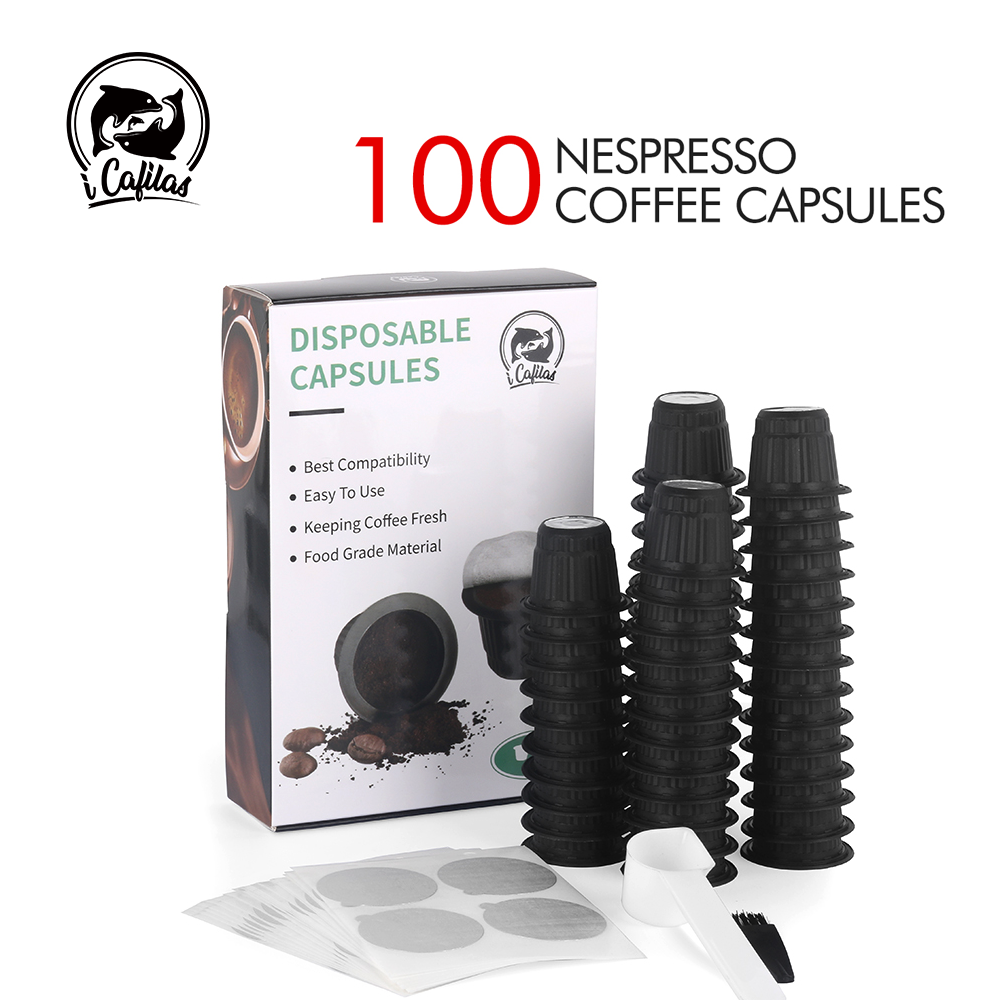 50 Sets For Nespresso Coffee Capsule With Foils Lid Espresso Disposable Filter Pod Aluminum Foils Cover Kitchen Coffee Mahicne