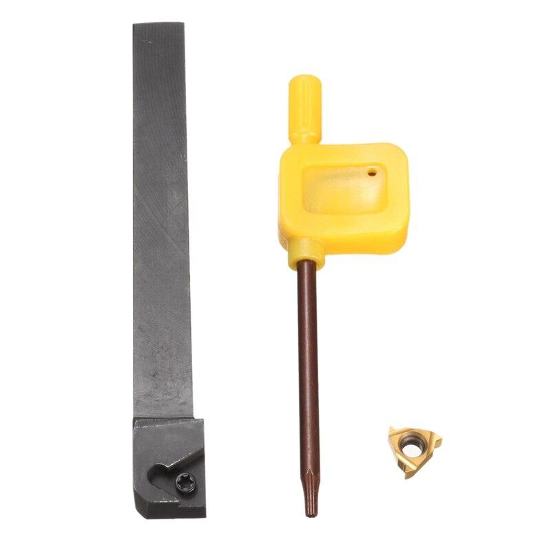 New 1Pc Ser1010H11 Lathe Turning Tool Holder Boring Bar + 1Pc 11Er Ag60 Carbide Insert Blade + 1Pc Wrench