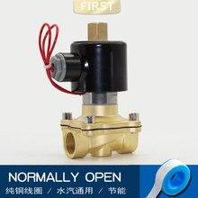 בדרך כלל פתוח פליז חשמלי סולנואיד valve DN08 DN10 DN15 DN20 פנאומטי שסתום 12V 24V 220V 110V עבור מים שמן ga