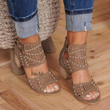 2020 Women Fashion Sandals Women Vintage Hollow Out Peep Toe Square Heel Wedges Sandals High Heels Shoes Zapatos Mujer women platform sandals one word women peep toe high wedges heel ankle buckles round fine high heels field female sandals shoes