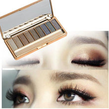 9 Warna Shimmer Eyeshadow Palet Eye Shadow Makeup & Kosmetik Sikat Set G731(China)