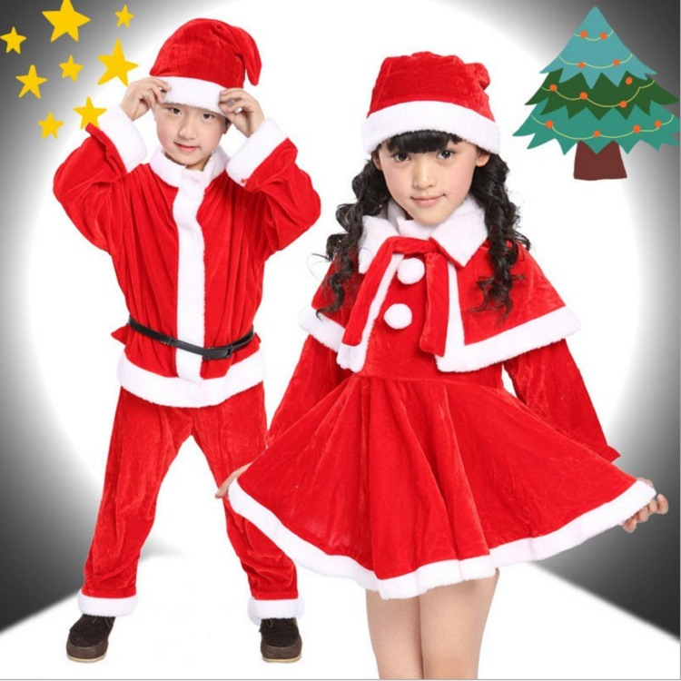 New Style Children Christmas Costume Santa Claus Suits Clothing Europe And America Gauze Purple Witch Wizard Clothes