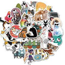 50pcs Cartoon Cat Stickers for Car Styling Bike Motorcycle Phone Laptop Travel X6HC