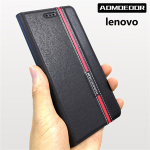 lenovo z5s a5 s5 k9 a6 k5 note 2018 play z6 pro s90 Case Leather flip cover for lenovo z6 lite back cases Wallet Style Stand(China)