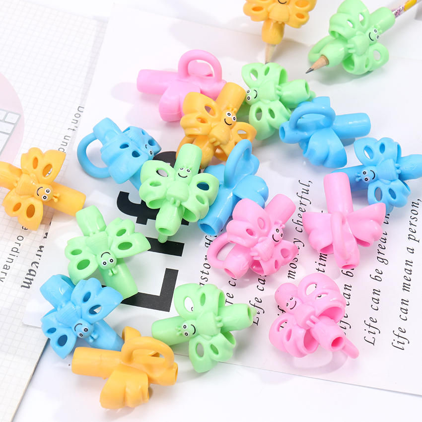 1PC Kindergarten Children Beginners Corrective Grip Silicone Pencil Writing Help Fixture Correct Finger Position