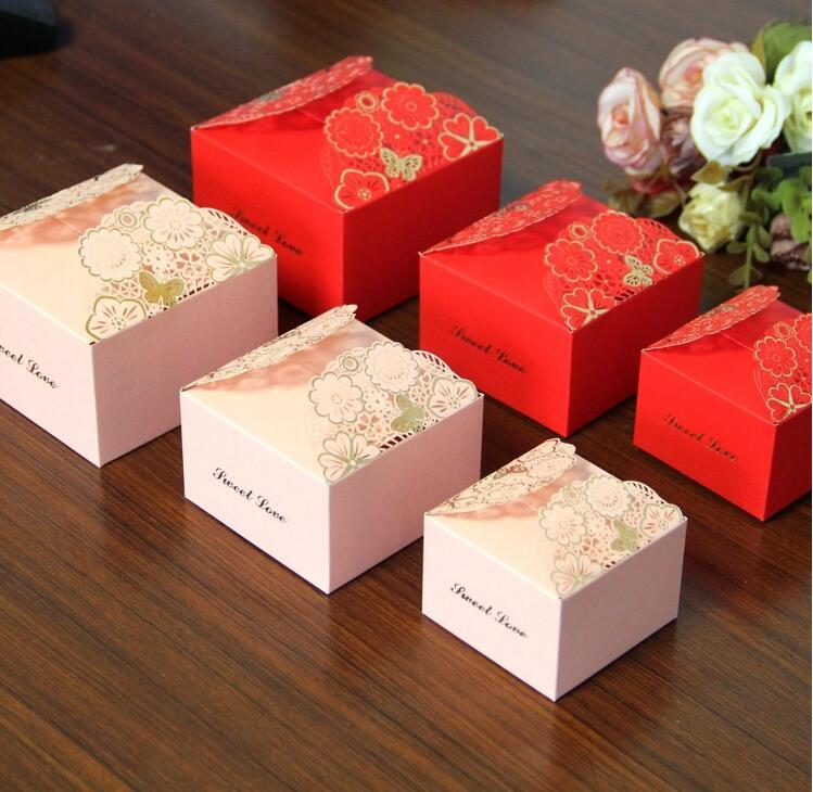 Fleurs imprimées artisanat papier bijoux boîte d'emballage petite boîte-cadeau pour Biscuits à la main savon de noce bonbons gâteau Biscuits boîtes