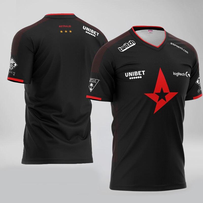 Top Quality 1:1 Astralis Jersey Fans T-shirt Men Women Dev1ce Magisk Gla1ve Custom ID Tee Shirt Homme