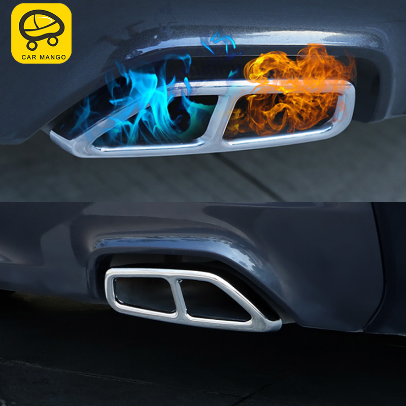 CARMANGO pour BMW G30 5 série 2018 2017 voiture style queue tuyaux d'échappement silencieux cadre couverture garniture autocollant accessoire extérieur
