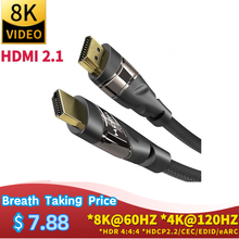 HDMI 2.1 video Cable Copper 8K@60 HZ 4K@120HZ UHD HDR 48Gbps cable HDM